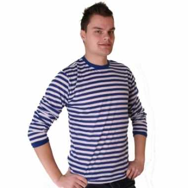 Gestreept  Dorus trui blauw wit dames