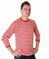 Gestreept dorus trui rood wit dames